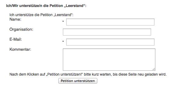 Petition Leerstand - IG Kultur Wien