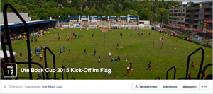 "Facebook Einladung ""ute bock cup 2015 - kick off"" im Flag - Screenshot"