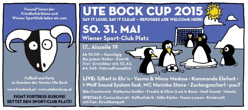 Ute Bock Cup 2015 - Flyer
